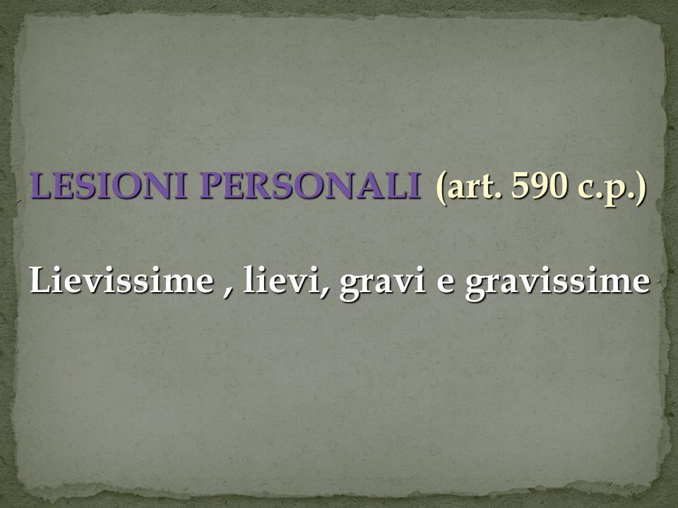 LESIONI PERSONALI (art. 590 c.p.)