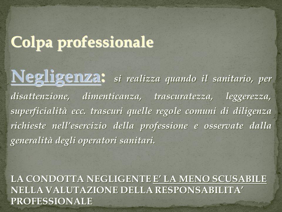 Colpa professionale