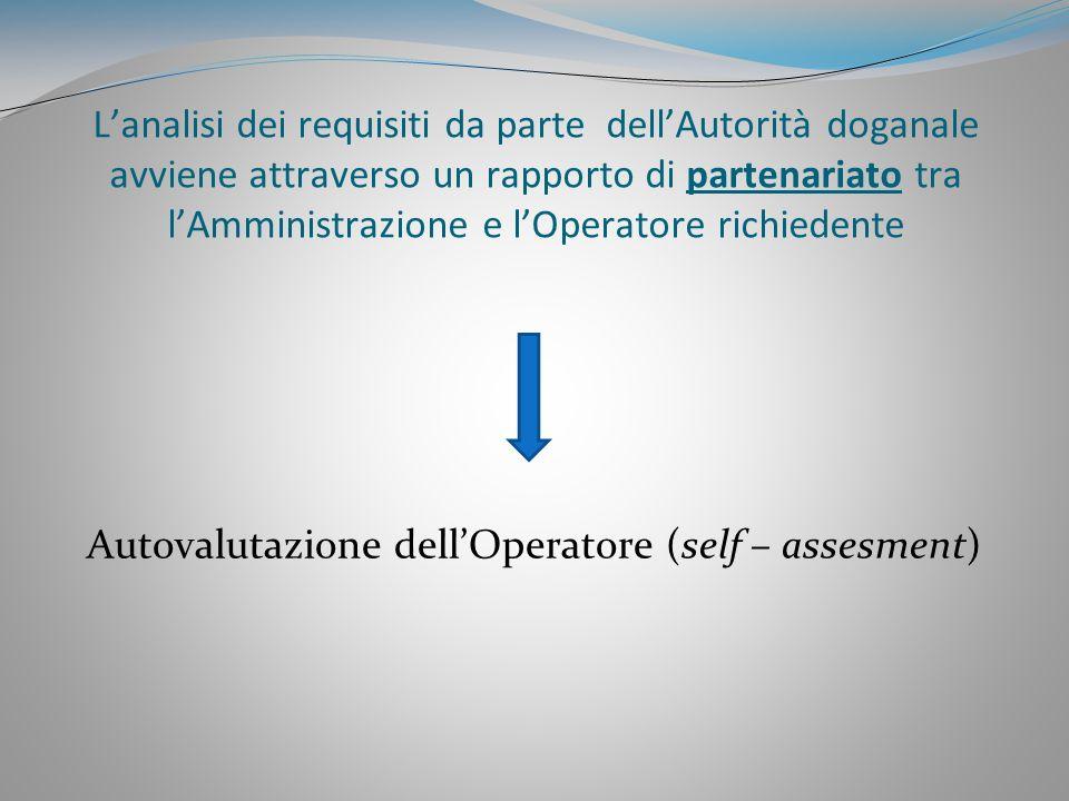 Autovalutazione dell'Operatore (self – assesment)