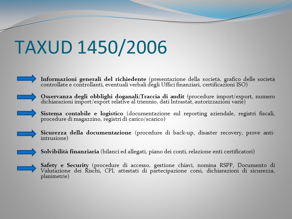 TAXUD 1450/2006