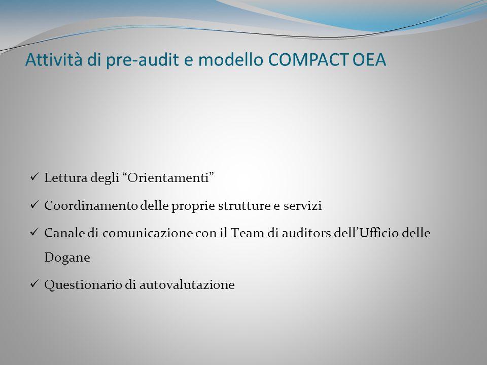 Attività di pre-audit e modello COMPACT OEA