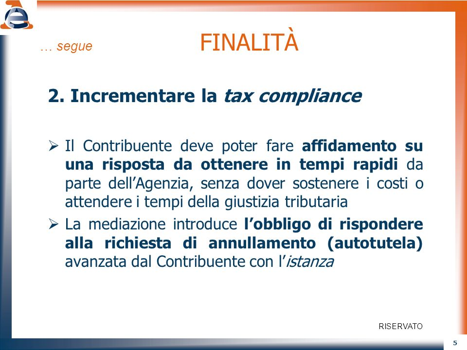 2. Incrementare la tax compliance