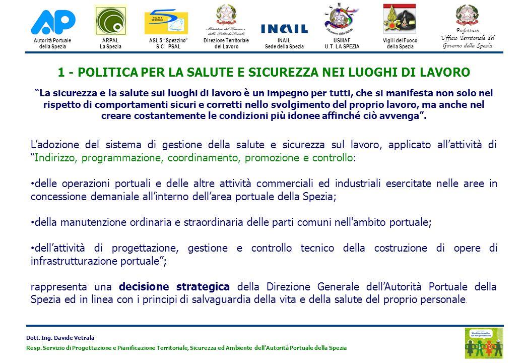 1 - POLITICA PER LA SALUTE E SICUREZZA NEI LUOGHI DI LAVORO