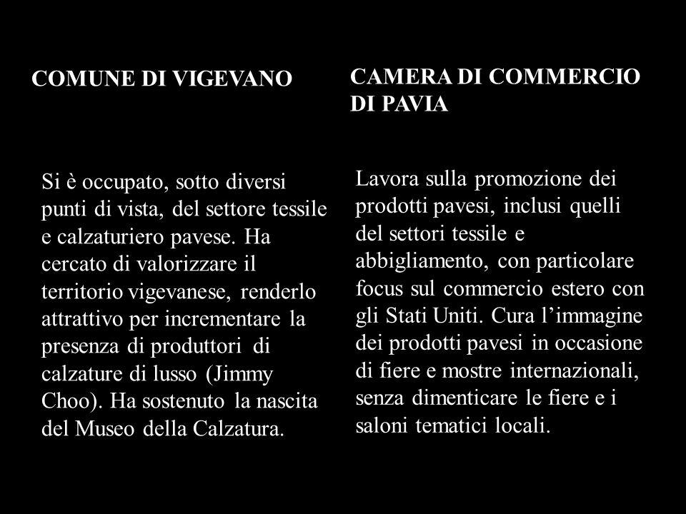 COMUNE DI VIGEVANO CAMERA DI COMMERCIO DI PAVIA.