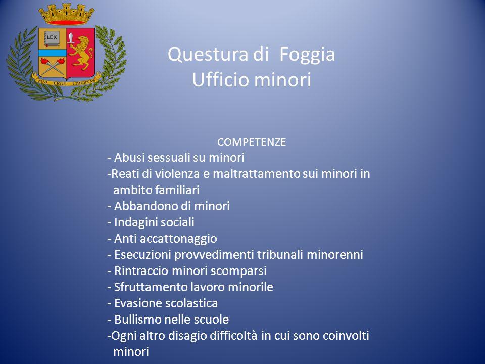 Questura di Foggia Ufficio minori - Abusi sessuali su minori