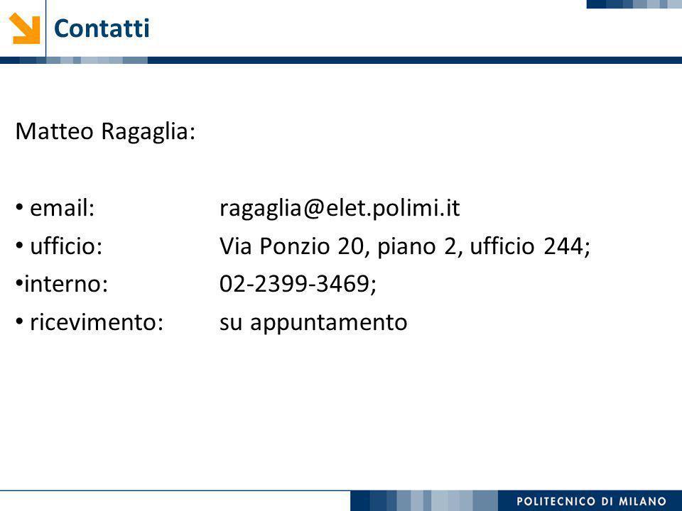 Contatti Matteo Ragaglia: