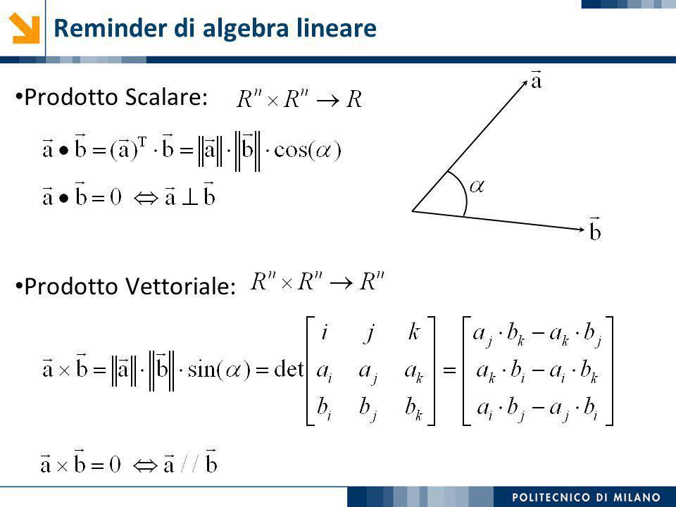 Reminder di algebra lineare