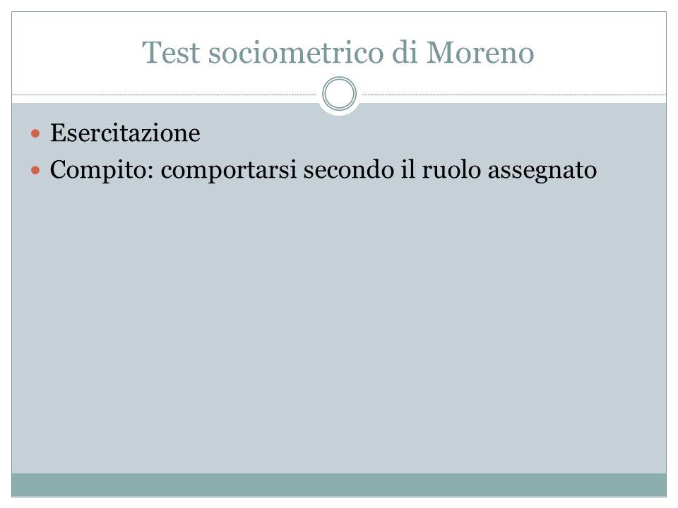 Test sociometrico di Moreno
