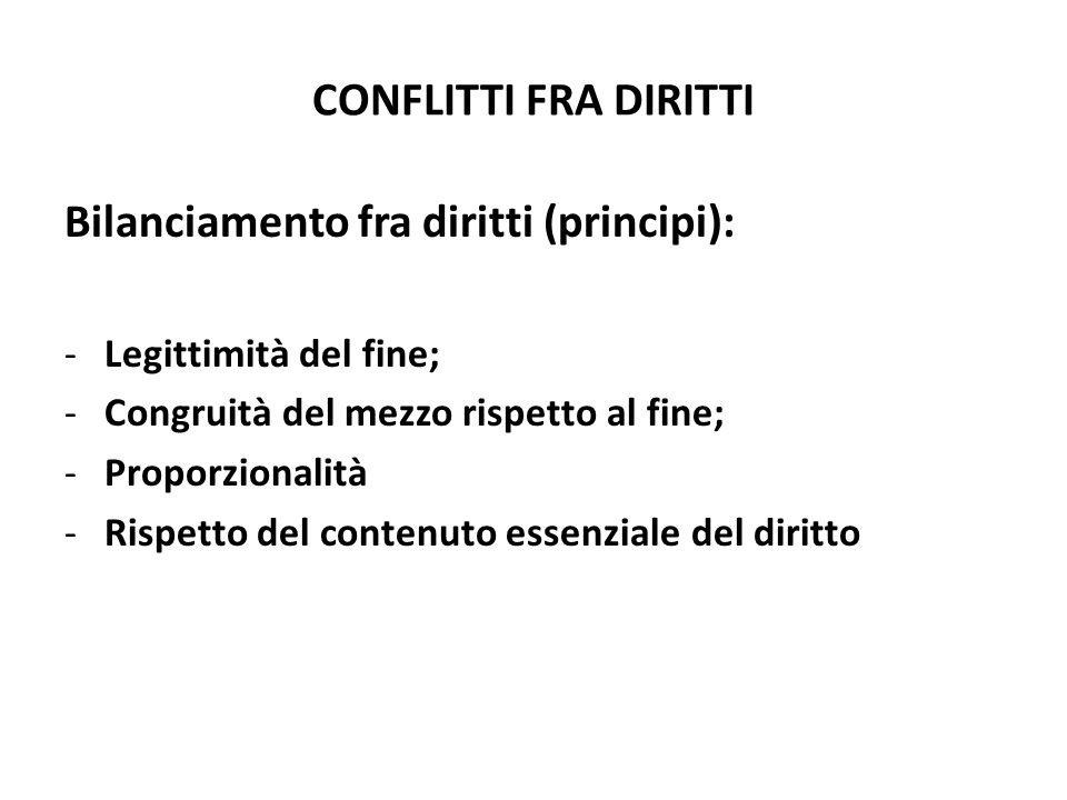 Bilanciamento fra diritti (principi):