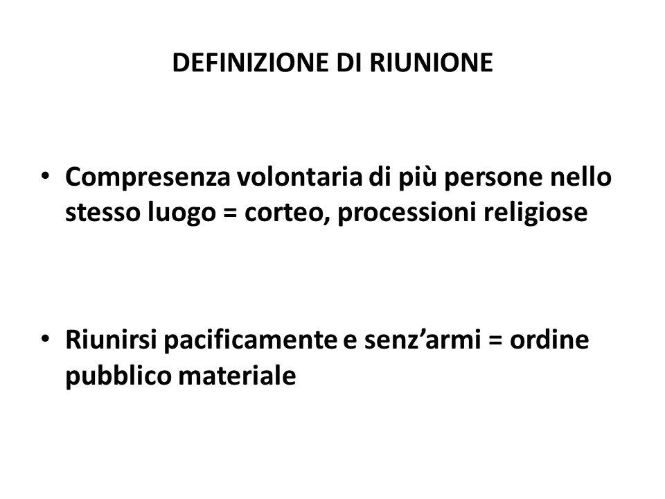 DEFINIZIONE DI RIUNIONE