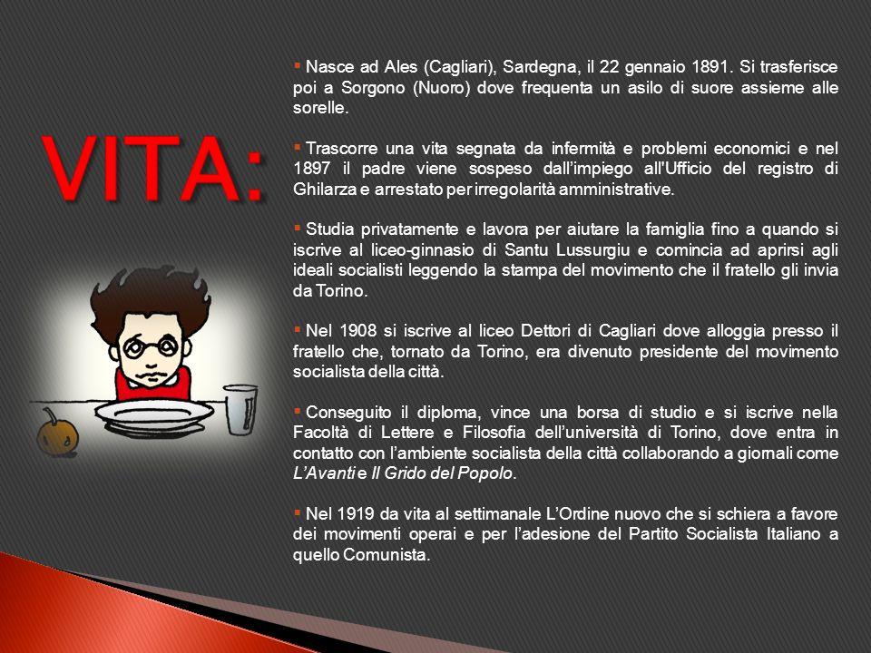 Nasce ad Ales (Cagliari), Sardegna, il 22 gennaio 1891
