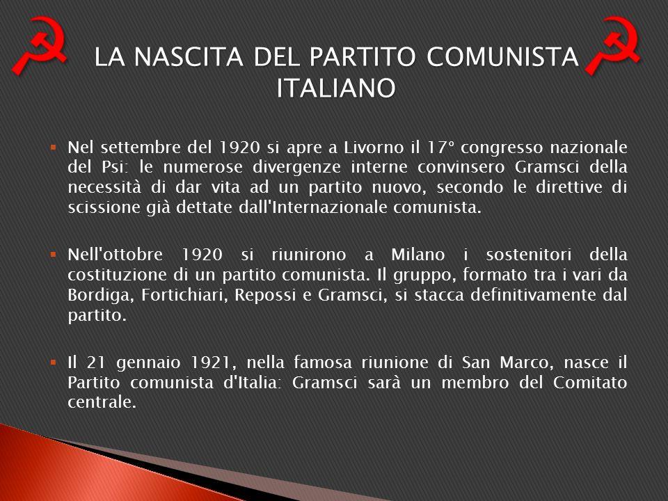 LA NASCITA DEL PARTITO COMUNISTA