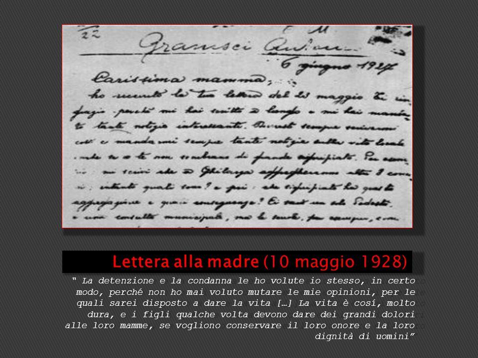 Lettera alla madre (10 maggio 1928)
