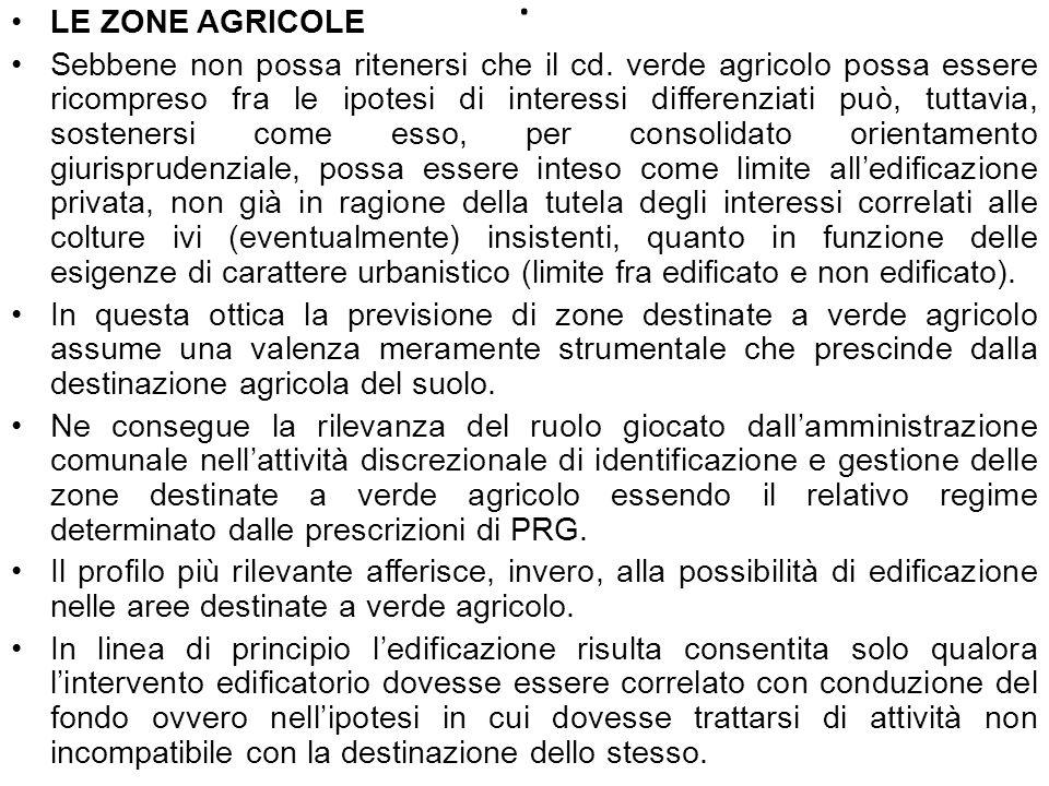 LE ZONE AGRICOLE