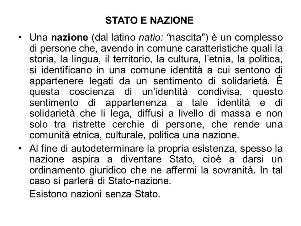 STATO E NAZIONE