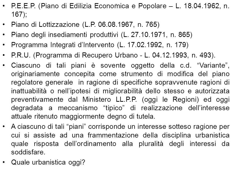 Piano di Lottizzazione (L.P. 06.08.1967, n. 765)