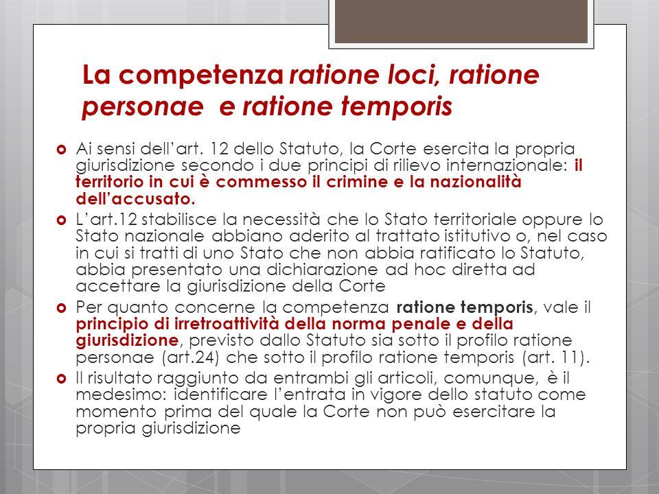 La competenza ratione loci, ratione personae e ratione temporis