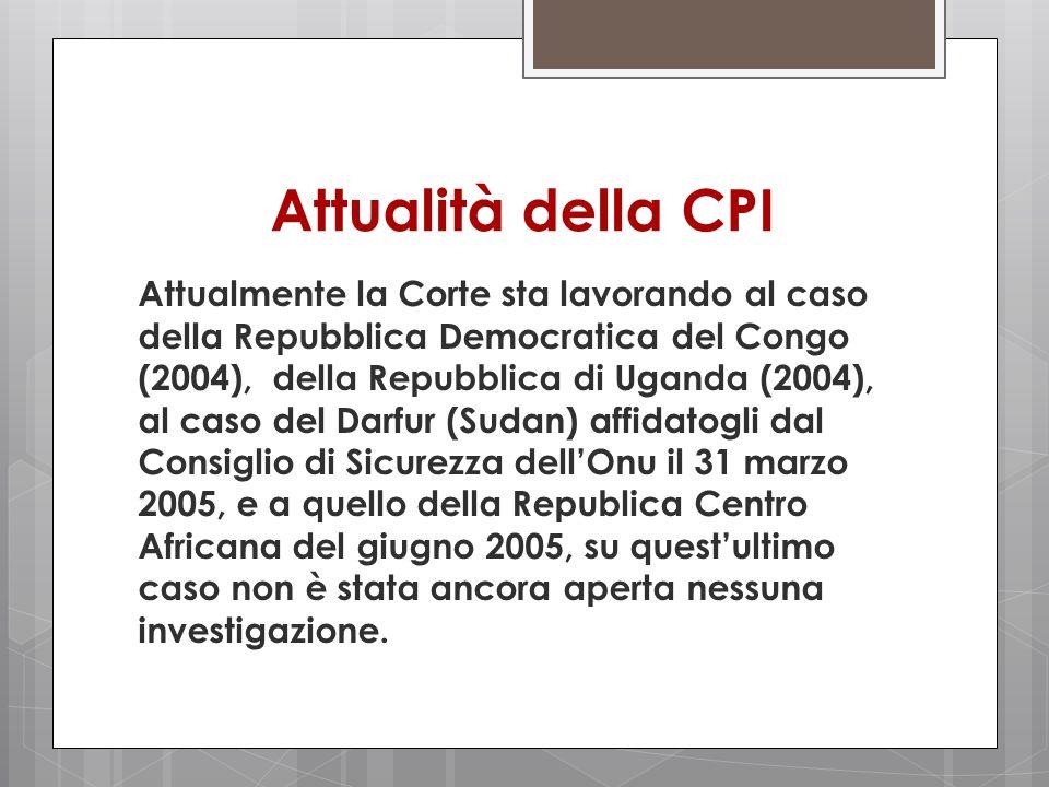 Attualità della CPI