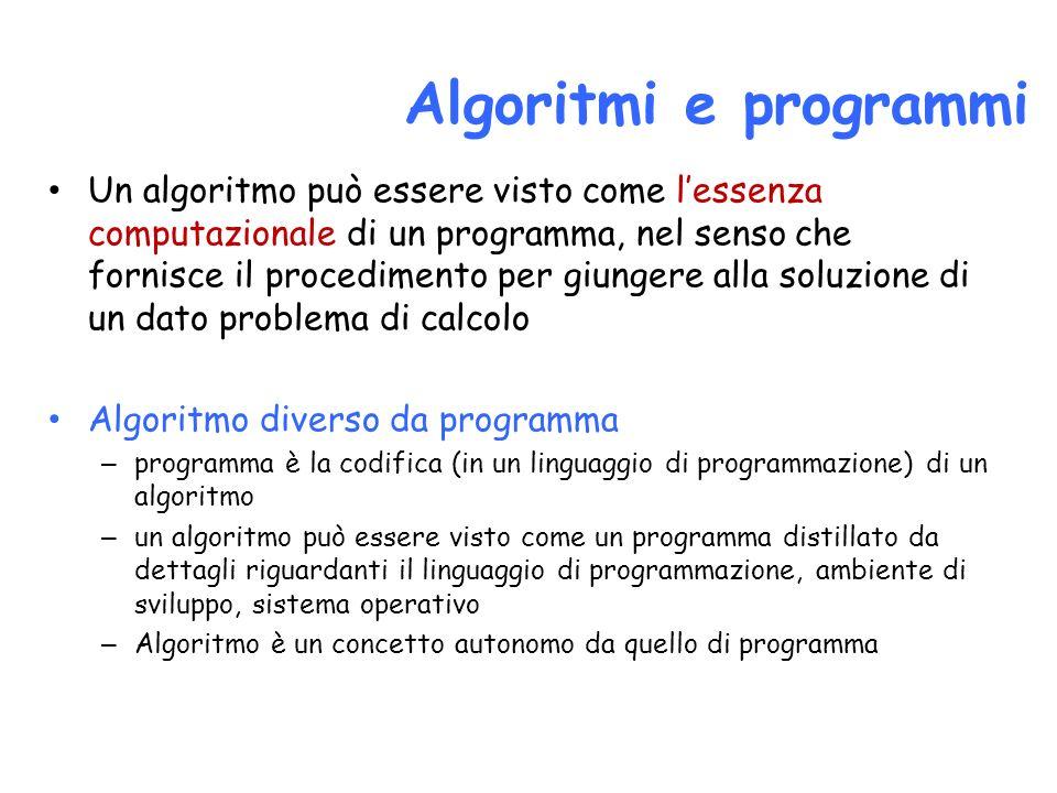 Algoritmi e programmi