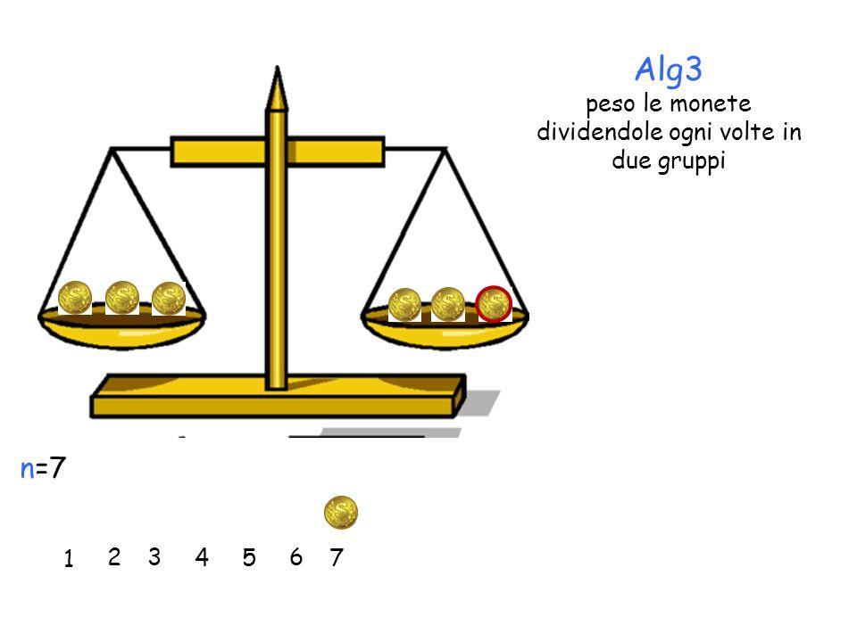 Alg3 peso le monete dividendole ogni volte in due gruppi