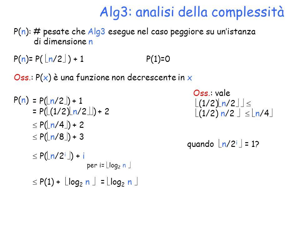 Alg3: analisi della complessità