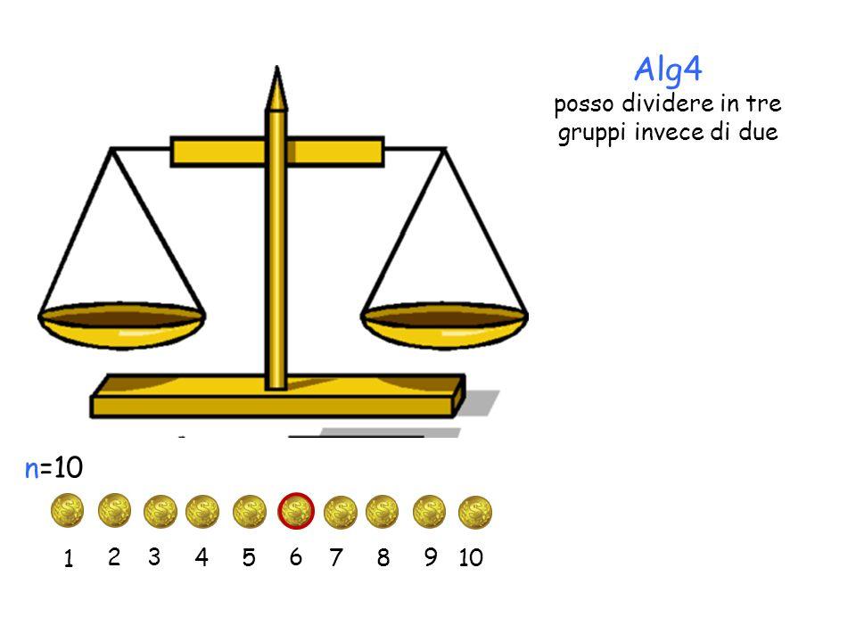 Alg4 posso dividere in tre gruppi invece di due