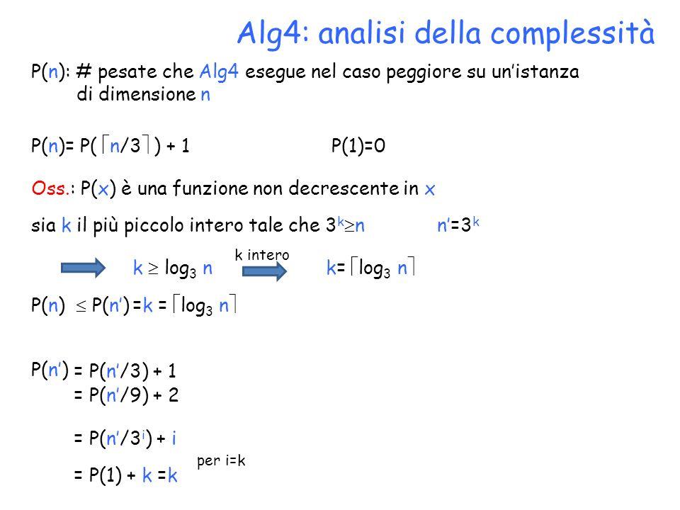 Alg4: analisi della complessità