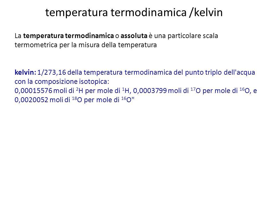 temperatura termodinamica /kelvin