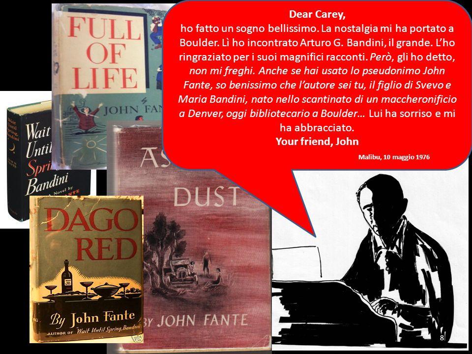 Dear Carey, ho fatto un sogno bellissimo