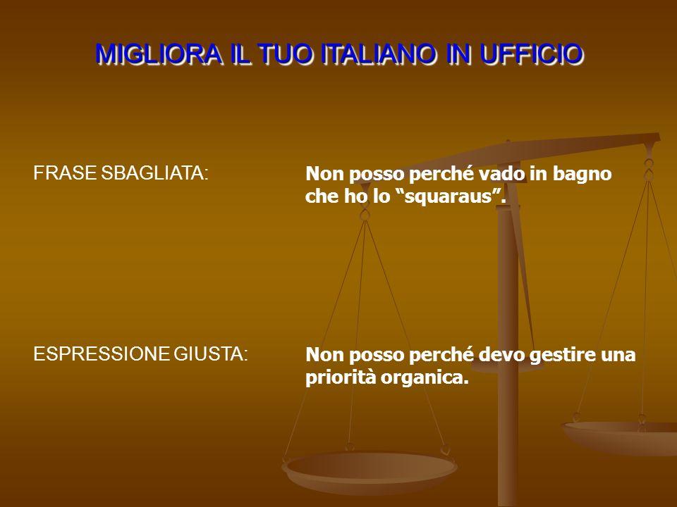 MIGLIORA IL TUO ITALIANO IN UFFICIO