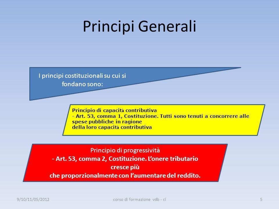 Principi Generali I principi costituzionali su cui si fondano sono: