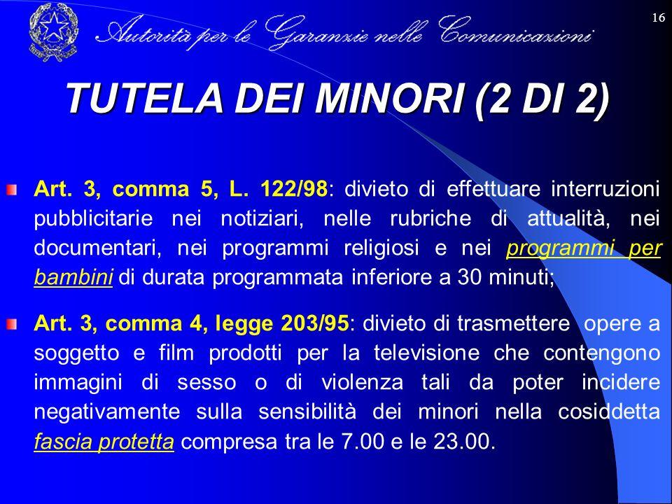 TUTELA DEI MINORI (2 DI 2)