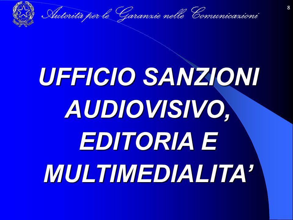 UFFICIO SANZIONI AUDIOVISIVO, EDITORIA E MULTIMEDIALITA'