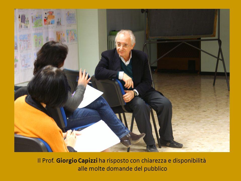 Il Prof. Giorgio Capizzi ha risposto con chiarezza e disponibilità