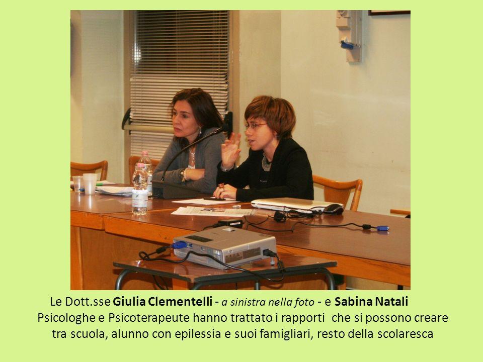 Le Dott.sse Giulia Clementelli - a sinistra nella foto - e Sabina Natali