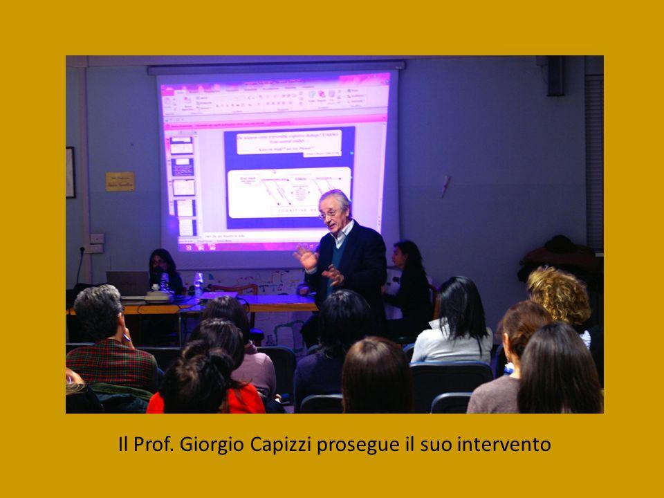 Il Prof. Giorgio Capizzi prosegue il suo intervento
