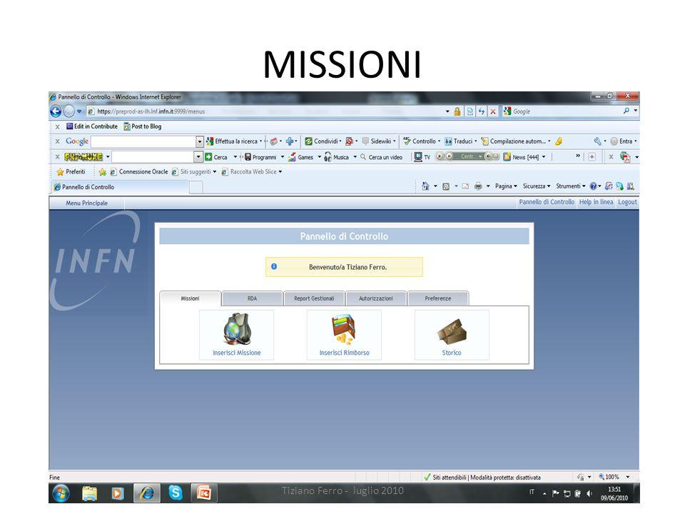 MISSIONI Tiziano Ferro - luglio 2010