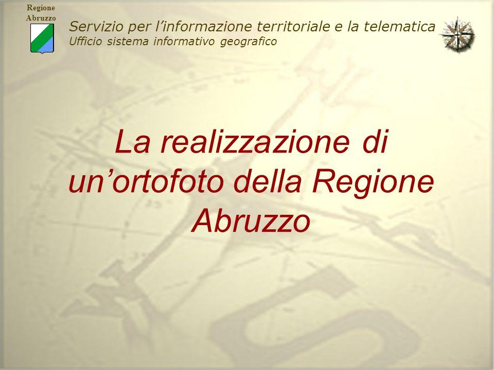 La realizzazione di un'ortofoto della Regione Abruzzo