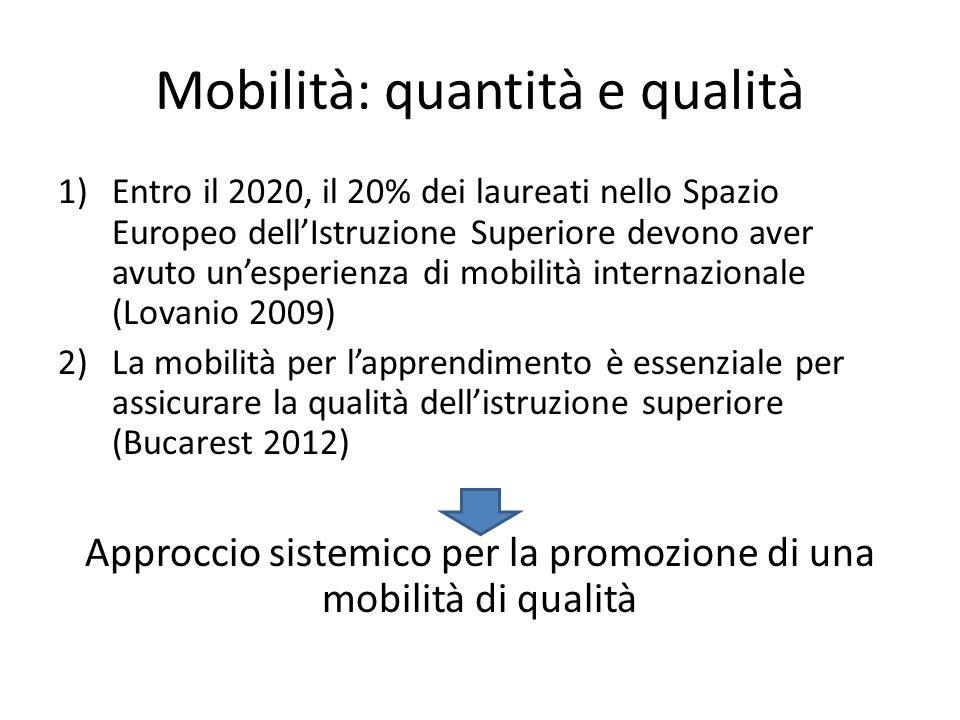 Mobilità: quantità e qualità