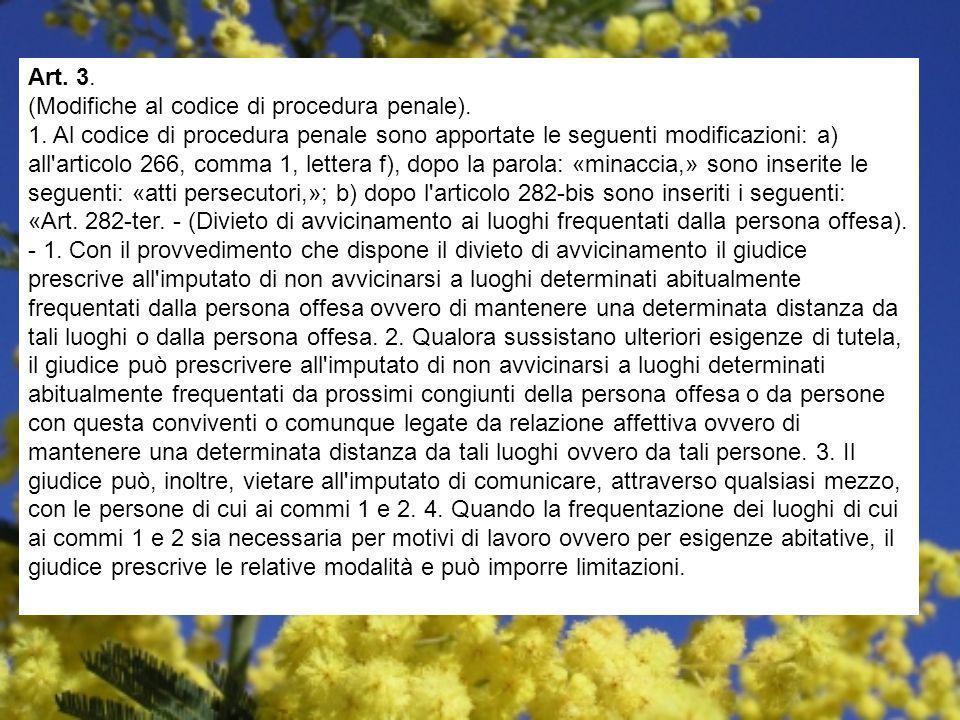 Art. 3. (Modifiche al codice di procedura penale). 1