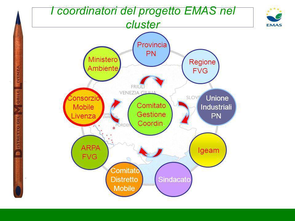 I coordinatori del progetto EMAS nel cluster