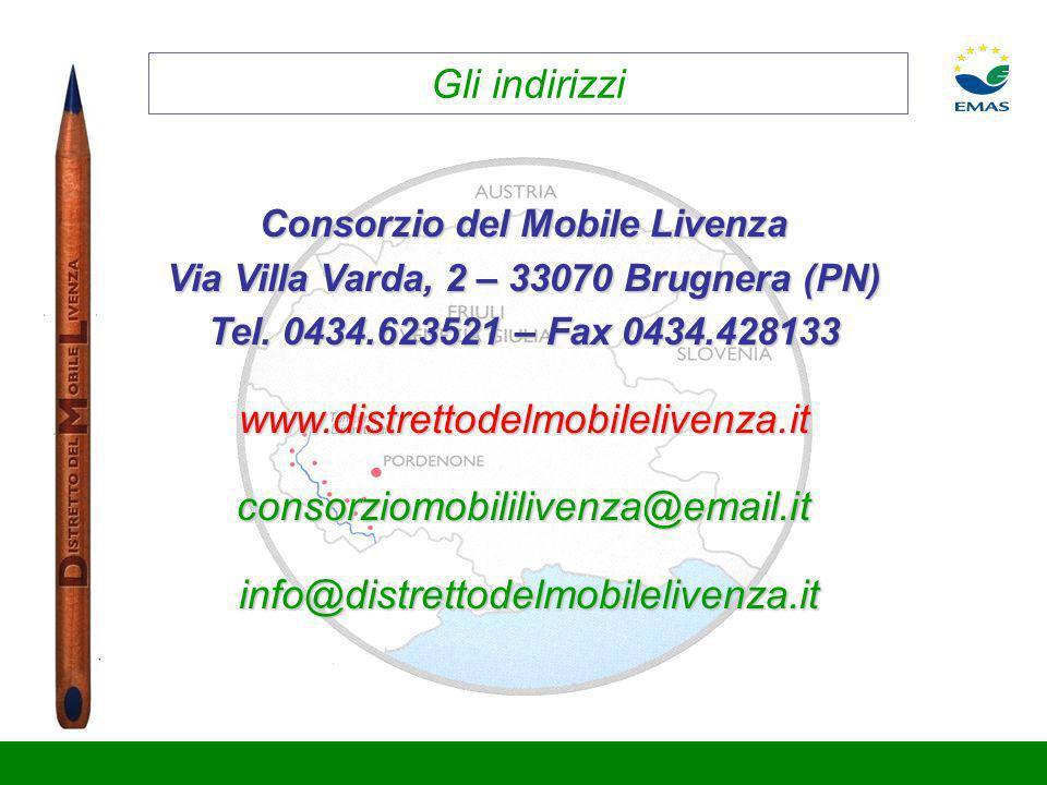 Consorzio del Mobile Livenza Via Villa Varda, 2 – 33070 Brugnera (PN)
