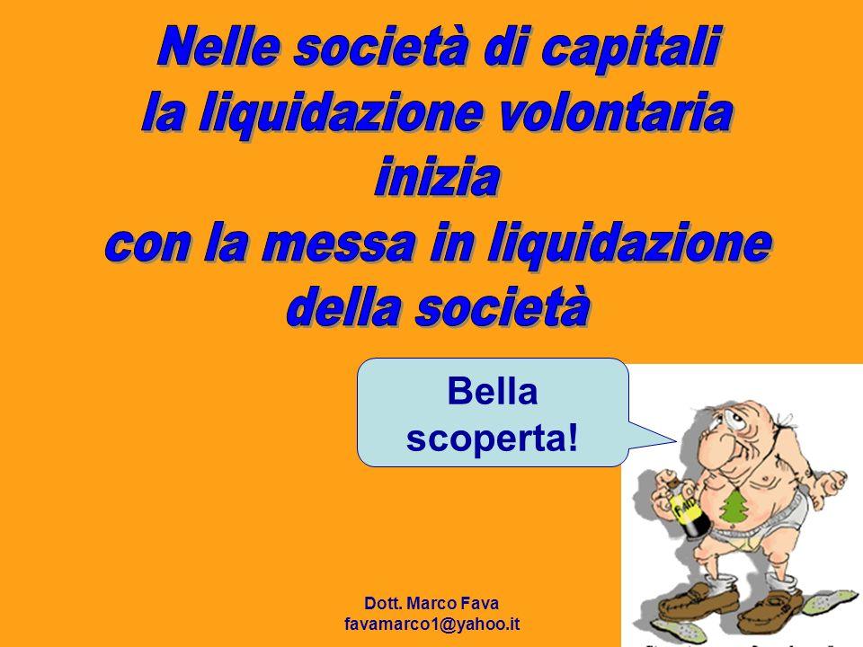 Nelle società di capitali la liquidazione volontaria inizia