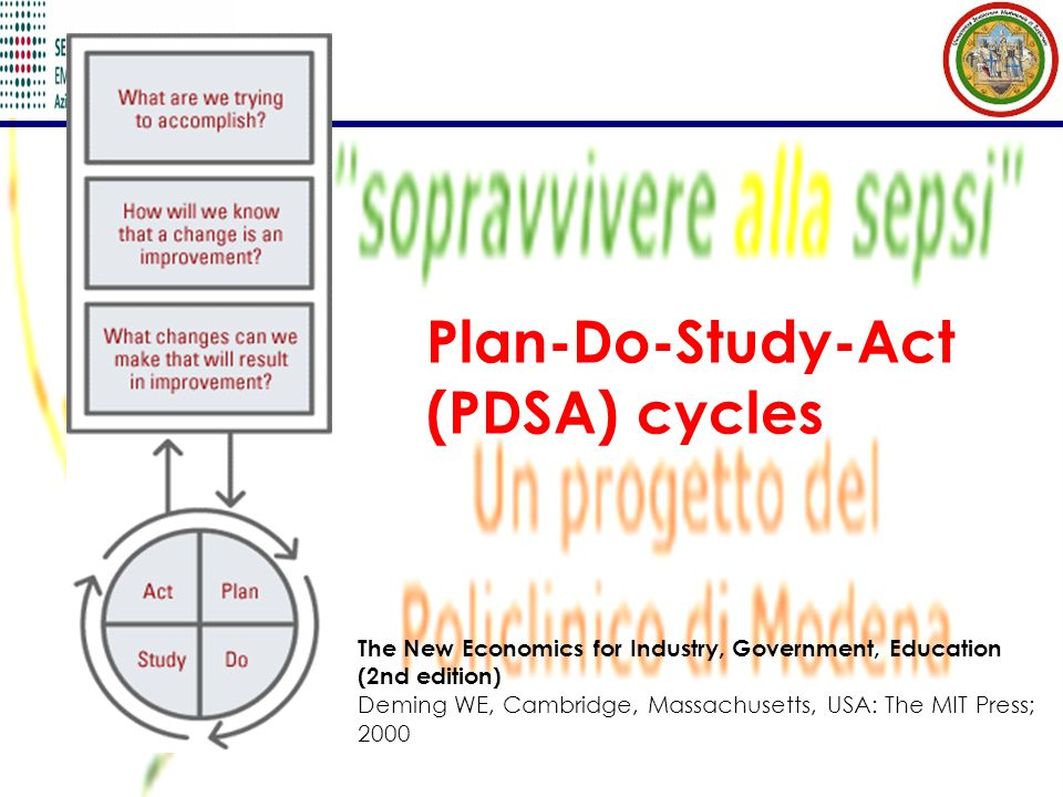 Plan-Do-Study-Act (PDSA) cycles