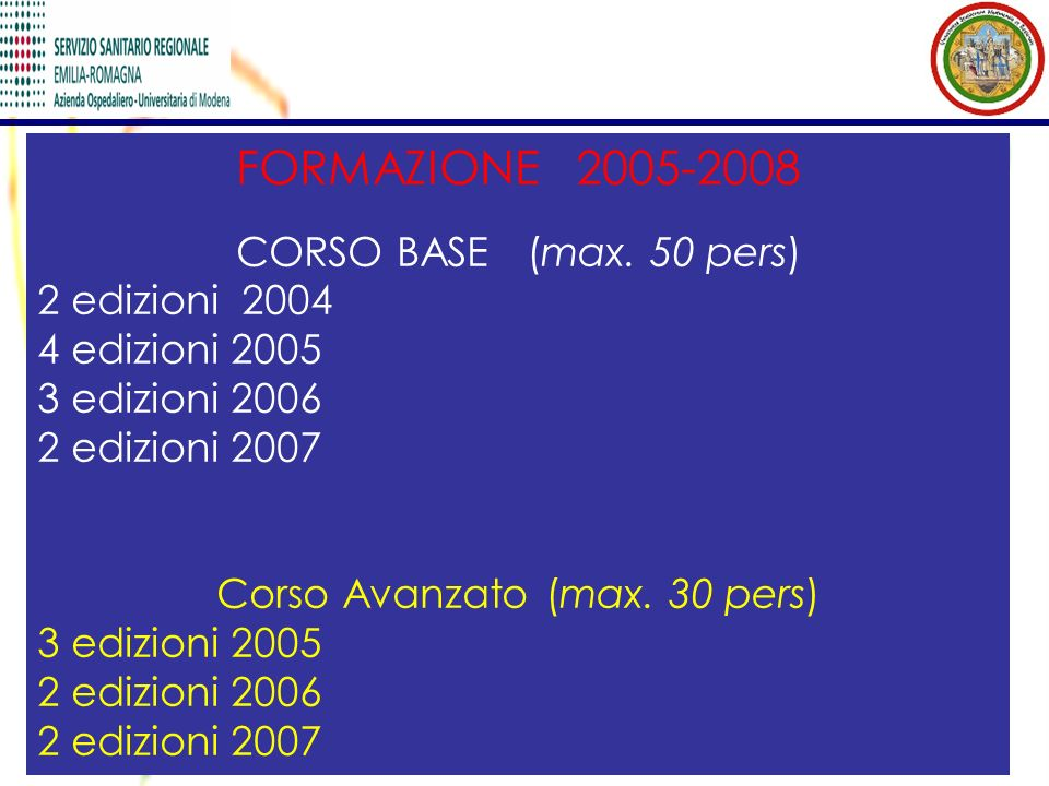 Corso Avanzato (max. 30 pers)