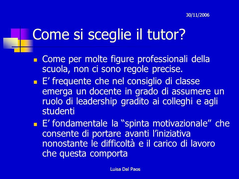 Come si sceglie il tutor