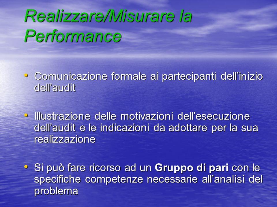 Realizzare/Misurare la Performance