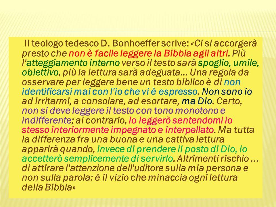 Il teologo tedesco D.