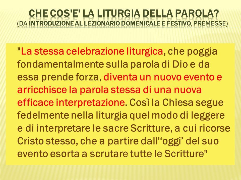 Che cos e la Liturgia della Parola