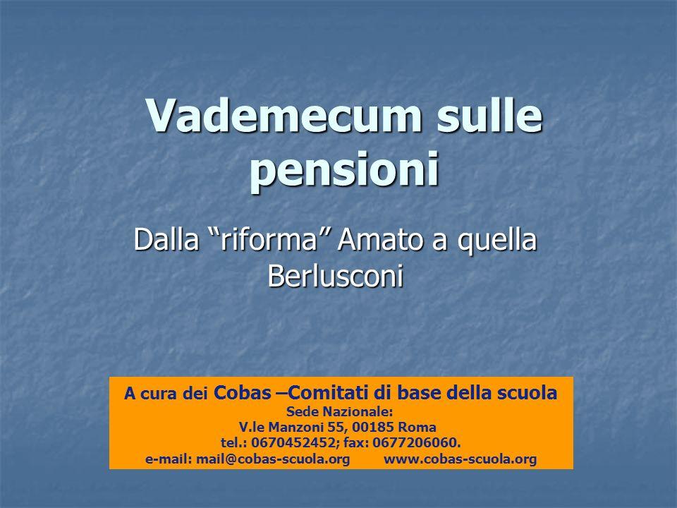 Vademecum sulle pensioni